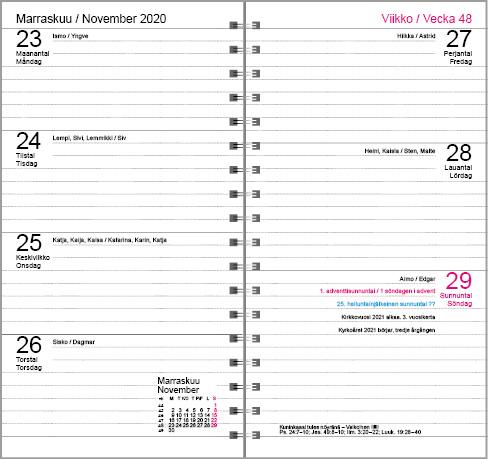 Kalenteripohja2021 malli